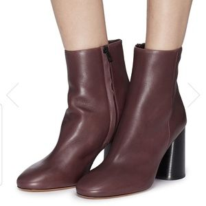 Vince Ridley wooden heel leather ankle boots